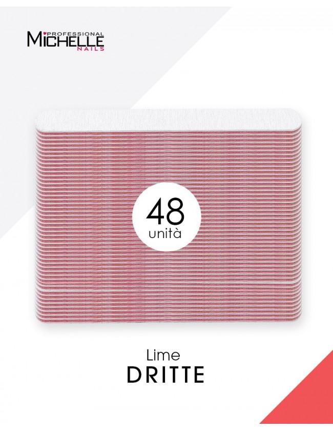 Accessori per unghie 48x LIMA DRITTA - DOUBLE FACE Uso professionale nails