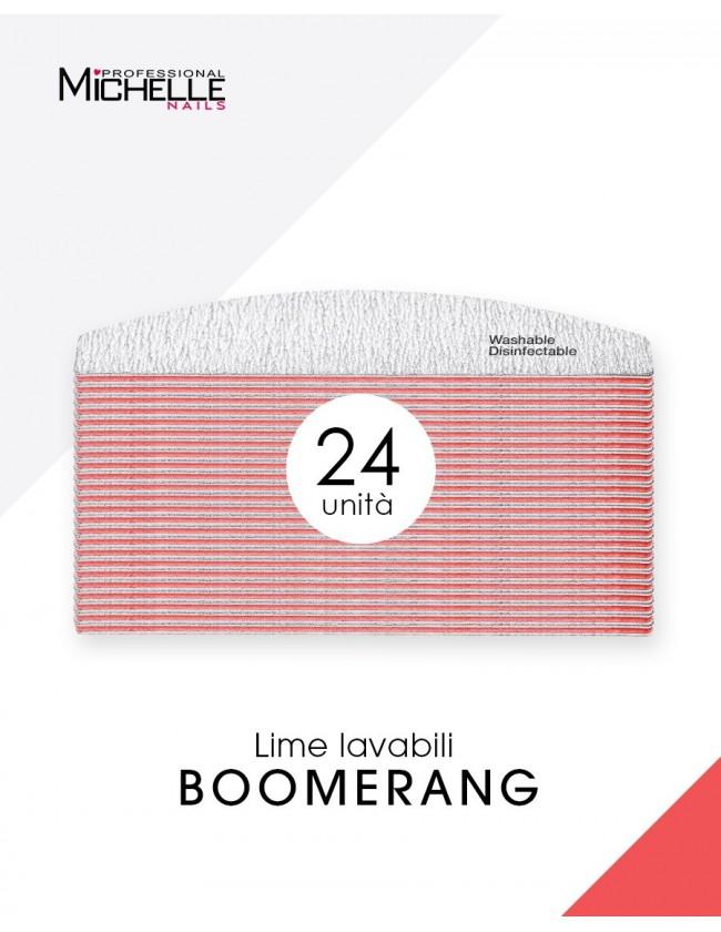 Accessori per unghie 24x LIMA PROFESSIONALE BOOMERANG, LAVABILE - DOUBLE FACE Uso professionale nails