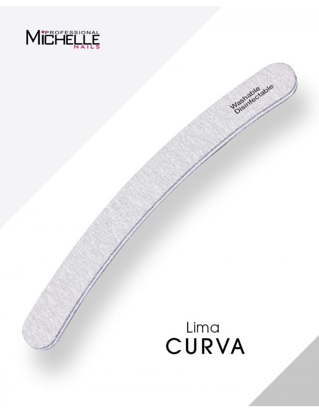 Accessori per unghie LIMA ALTA ABRASIVITÀ CURVA- Lavabile - Double Face  Uso professionale nails