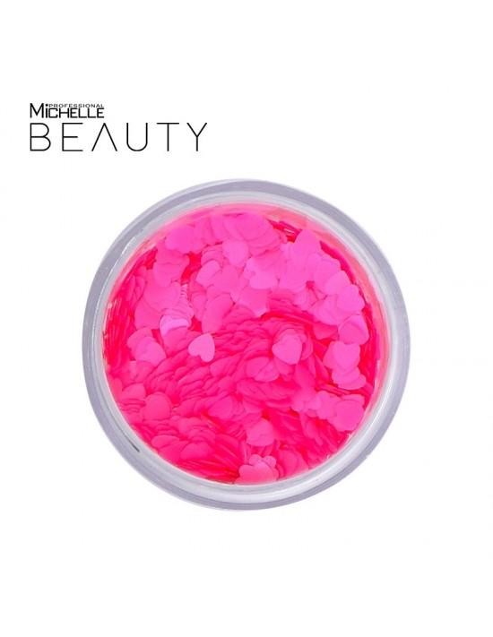 Paillettes Cuori rosa fluo...