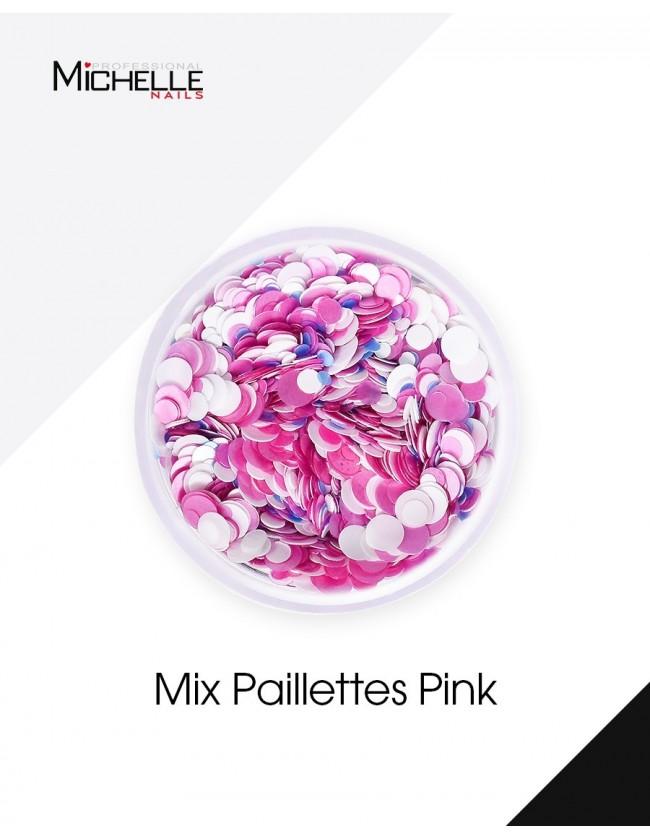 Lentejuelas Mezcla De Color Rosa - H036