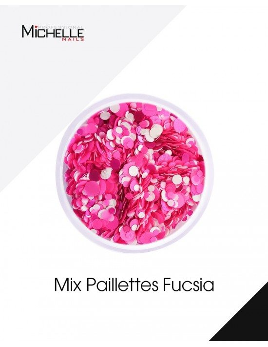 Paillettes Mix Fucsia - H038