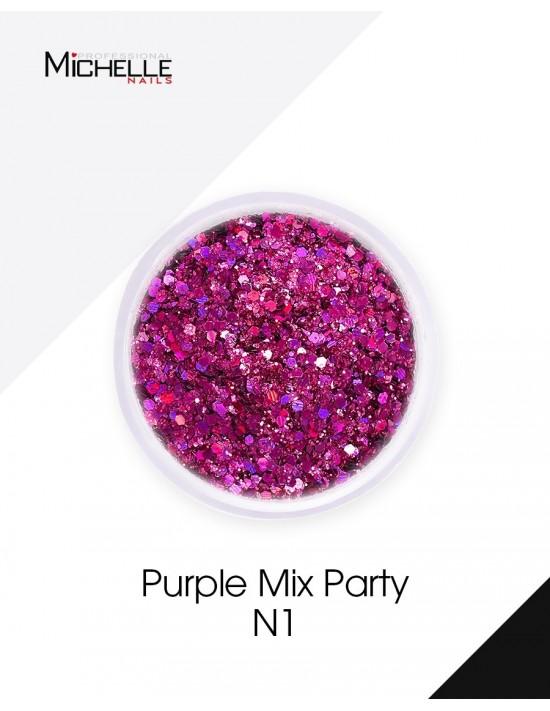 Lentejuelas Rojo Púrpura -...