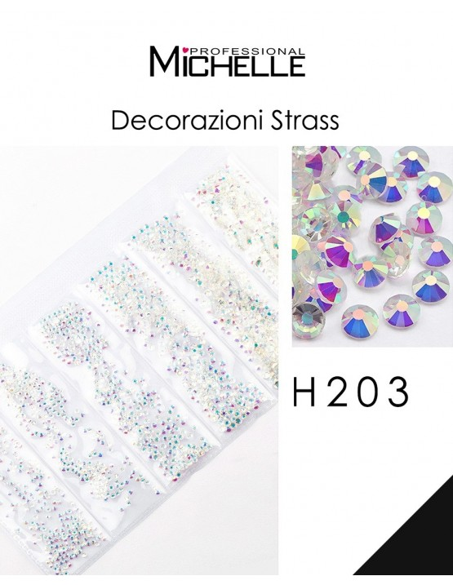 DECORAZIONE CRISTALLI STRASS H203