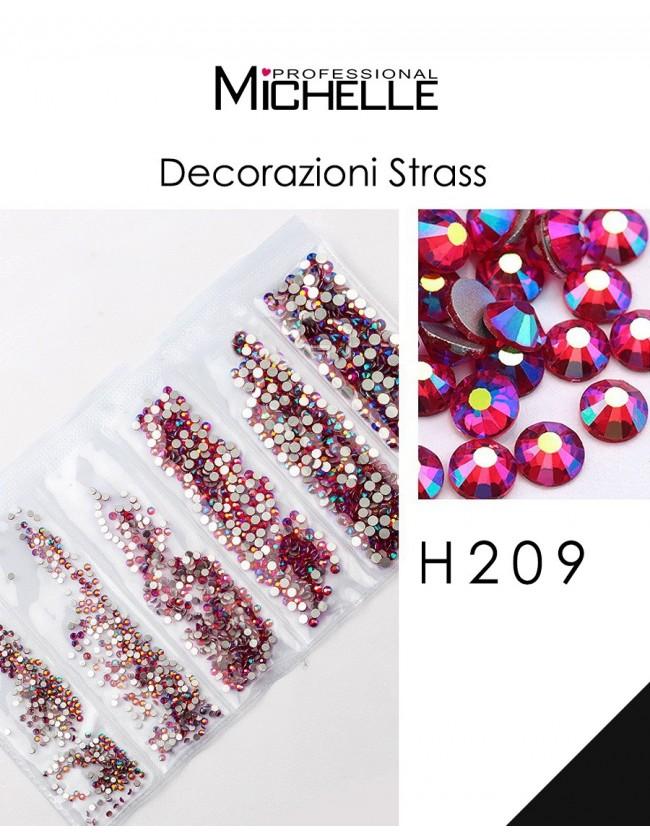 DECORAZIONE CRISTALLI STRASS H209