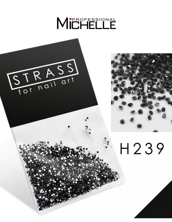 CRISTALLI STRASS NERO - H239
