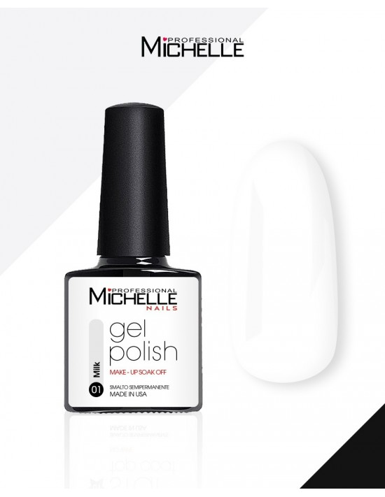 smalto semipermanente colore per unghie MichelleNails Smalto Semipermanente Make-Up Milk 01