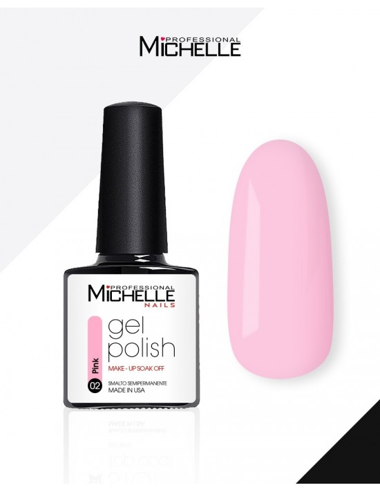 smalto semipermanente colore per unghie MichelleNails Smalto Semipermanente Make-Up Pink 02