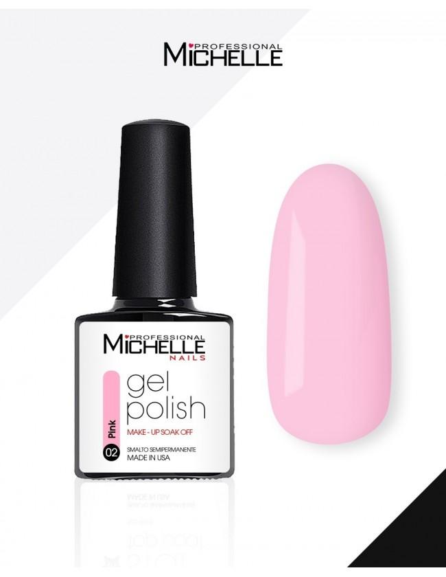 smalto semipermanente colore per unghie MichelleNails Smalto Semipermanente Make-Up Pink 02