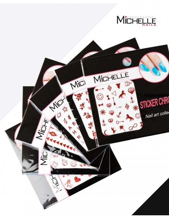 6 ADESIVI STICKERS CHROME...