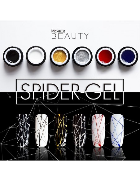 decorazione nail-art gel per unghie SPIDER GEL - BIANCO 01-S di Michellenails ricostruzione