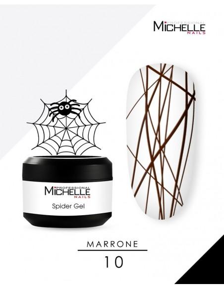 decorazione nail-art gel per unghie SPIDER GEL - MARRONE 10-S di MichelleNails ricostruzione