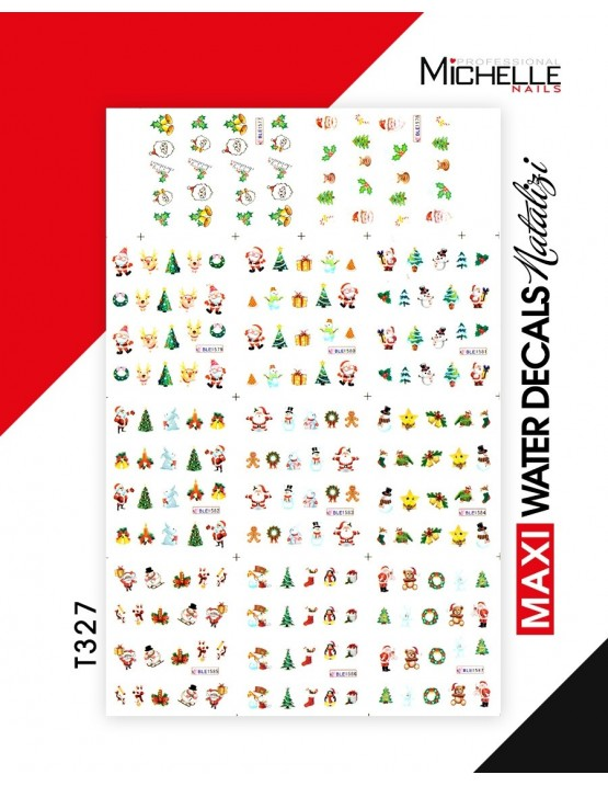 MAXI WATER DECALS NATALE T327