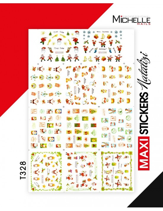 MAXI WATER DECALS NATALE T328