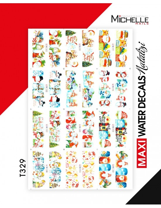 MAXI WATER DECALS NATALE T329
