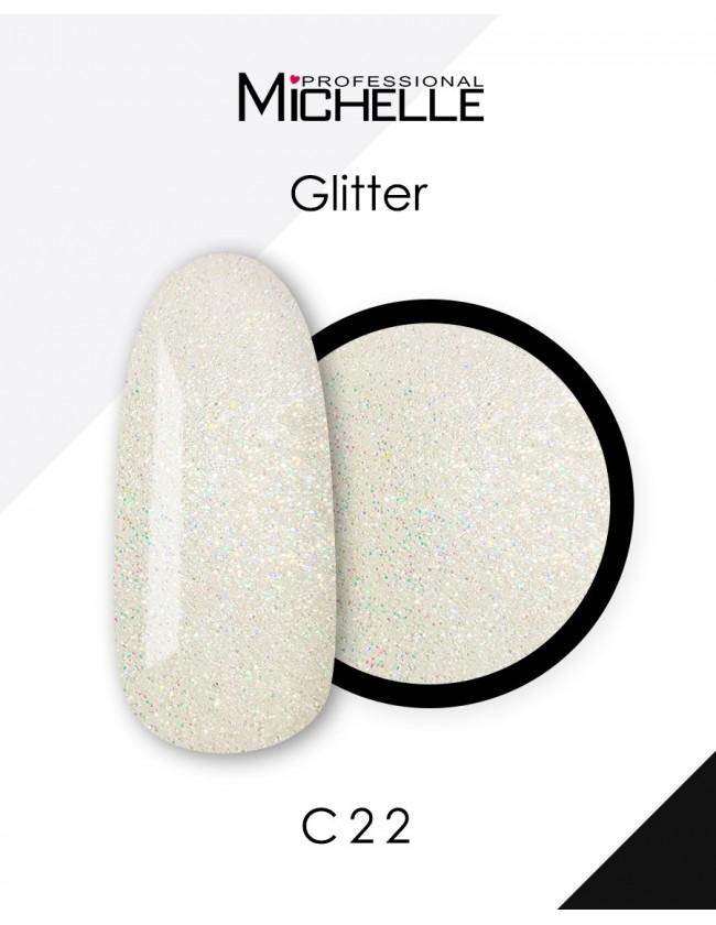 GLITTER G-C22 BIANCO CON MICROGLITTER...