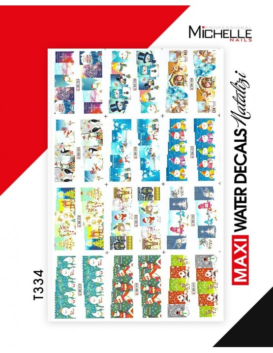 MAXI WATER DECALS NATALE T334