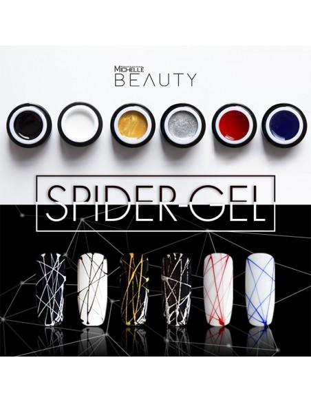 decorazione nail-art gel per unghie SPIDER GEL - AZZURRO 17-S di Michellenails ricostruzione