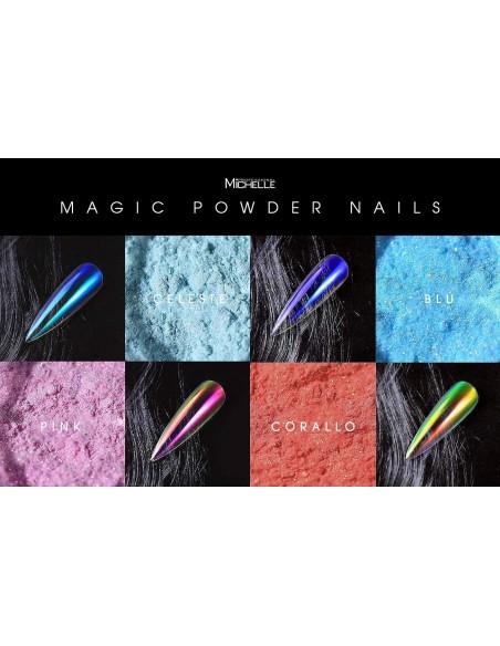 Nail art e decorazioni per unghie: Pigmento Magic Powder - BLU POLVERI - PIGMENTI