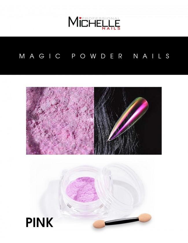 Nail art e decorazioni per unghie: Pigmento Magic Powder - PINK POLVERI - PIGMENTI