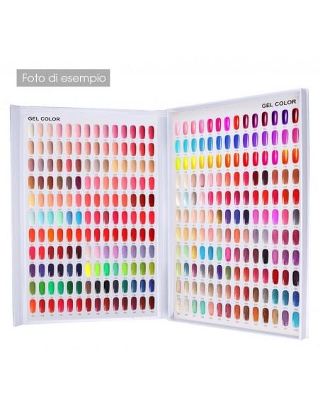 Accessori per unghie LIBRO ESPOSITORE PALETTE COLORI DA 120 pz SILVER RAINBOW - TIPS COMPRESI Uso professionale nails