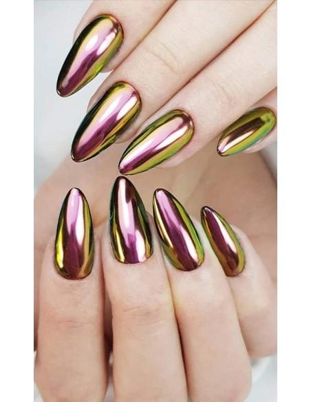 Nail art e decorazioni per unghie: PIGMENTO CHAMELEON GREEN-BRONZE - H901 POLVERI - PIGMENTI