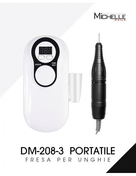 apparecchiatura uso professionale per unghie,  FRESA PORTATILE PROFESSIONALE - 30.000 giri DM-208-3