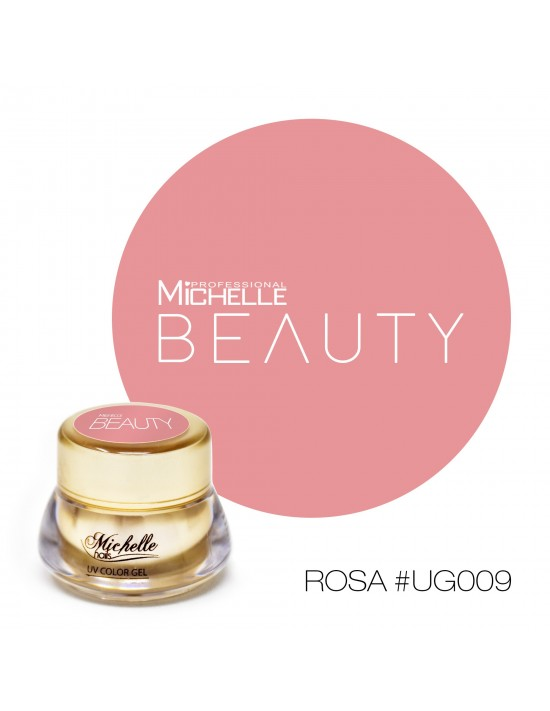 Gel per unghie GOLD COLOR UV GEL - ROSA UG009 di MichelleNails ricostruzione nails