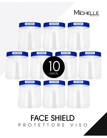 Accessori per unghie 10x FACE SHIELD VISIERA - PROTEZIONE VISO ANTI GOCCIOLINE  Uso professionale nails