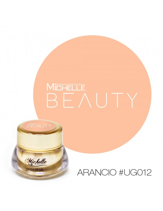 Gel per unghie GOLD COLOR UV GEL - ARANCIO UG012 di MichelleNails ricostruzione nails