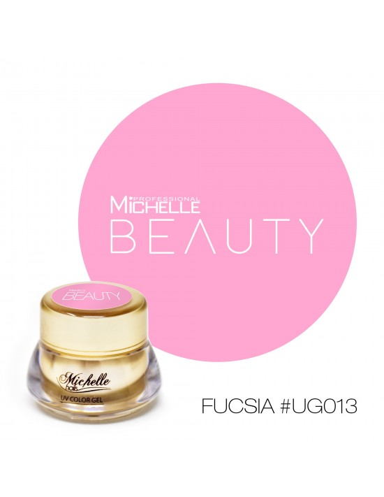 GOLD COLOR UV GEL - FIUSHIA...