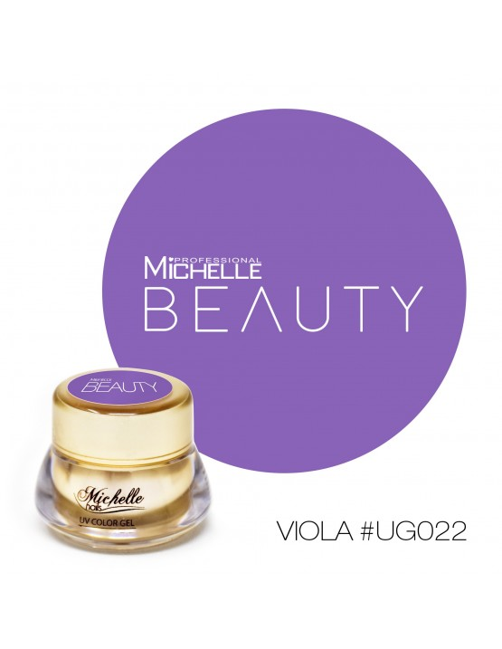 Gel per unghie GOLD COLOR UV GEL - VIOLA UG022 di MichelleNails ricostruzione nails
