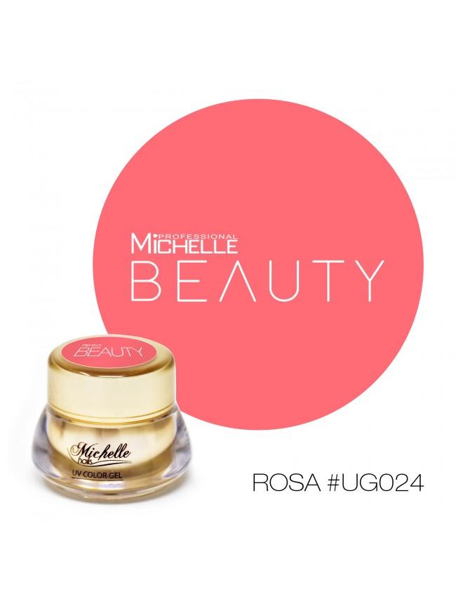 Gel per unghie GOLD COLOR UV GEL - ROSA UG024 di Michellenails ricostruzione nails