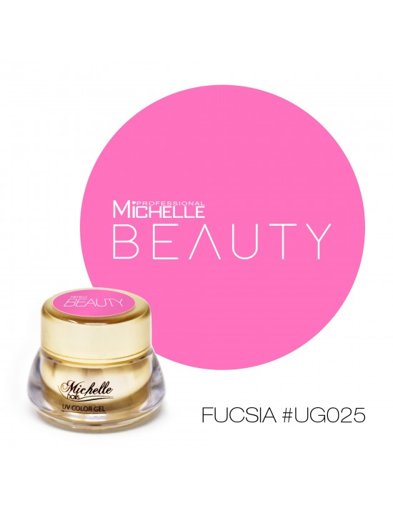 GOLD COLOR UV GEL - FUCSIA...