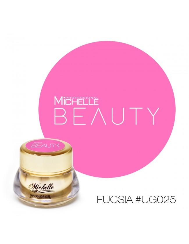 GOLD COLOR UV GEL - FUISHIA UG025