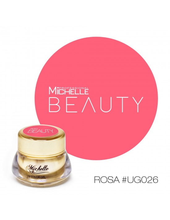 Gel per unghie GOLD COLOR UV GEL - ROSA UG026 di MichelleNails ricostruzione nails