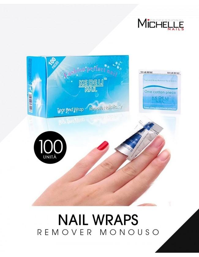 100 Nail Wraps Remover - PADS MONOUSO...