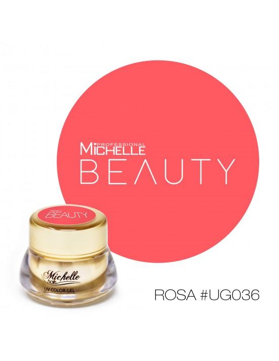 Gel per unghie GOLD COLOR UV GEL - ROSA UG036 di MichelleNails ricostruzione nails