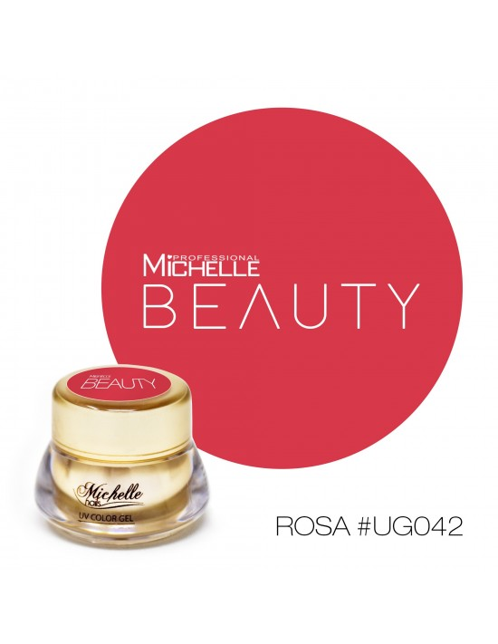Gel per unghie GOLD COLOR UV GEL - ROSA UG042 di MichelleNails ricostruzione nails