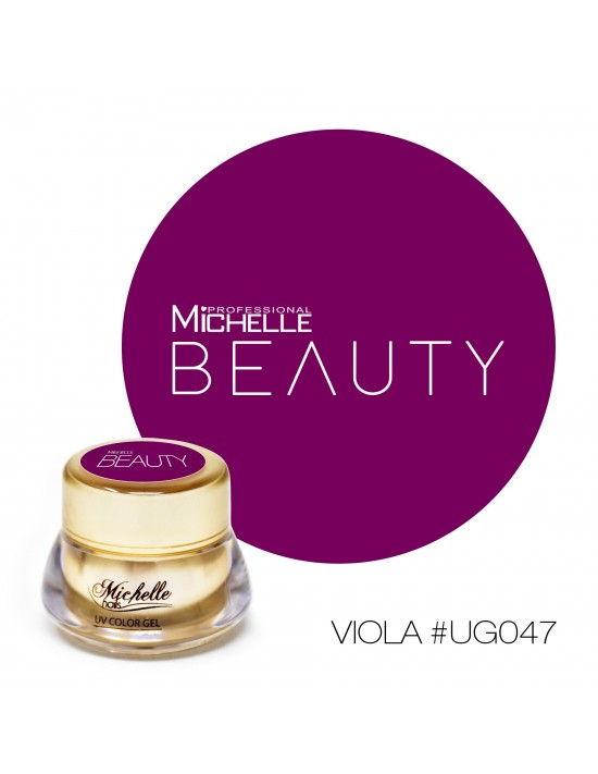 Gel per unghie GOLD COLOR UV GEL - VIOLA UG047 di MichelleNails ricostruzione nails