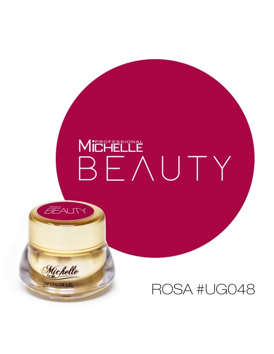 Gel per unghie GOLD COLOR UV GEL - ROSA UG048 di MichelleNails ricostruzione nails